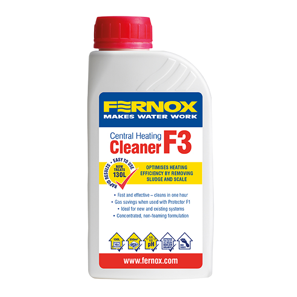 F3 - Cleaner is an effective cleaner to remove sludge, scale and debris from new & existing central heating systems. 500ml